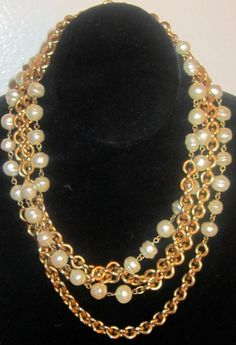 Chanel Coco Chanel long gold pearl necklace by rockcouturevintage, $2200.00