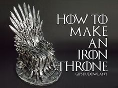 How to make an Iron Throne from Polymer clay