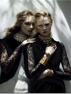 VOGUE RUSSIA- Daga Ziober & Holly Rose by Ben Hassett. Natasha Royt, December 2013, www.imageamplified.com, Image Amplified