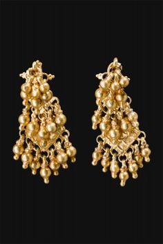 Earrings Maharashtra, central India First half 1900