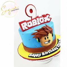 Roblox Birthday Cake, Birthday Cale, Birthday Cake Kids Boys, Superhero Birthday Cake, 9th Birthday Parties, Cool Birthday Cakes, Birthday Celebration, 40th Wedding Anniversary Cake, Robot Cake