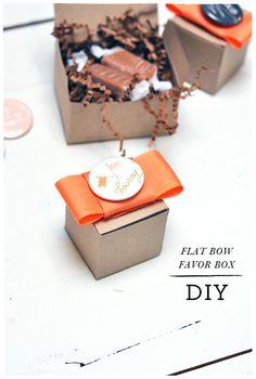 Flat Bow Favor Box DIY | Smitten On Paper