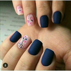 35 besten Navy Nail Art-Ideen mit Bildern 30 + Creative Navy Nail Art Designs zu I … - Nageldesign Navy Nail Art, Navy Nails, Pink Nails, Gel Nails, Nail Polish, Blue Matte Nails, Matte Pink, Shellac, Diy Nagellack