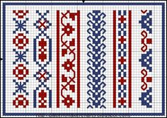 Free Easy Cross, Pattern Maker, PCStitch Charts + Free Historic Old Pattern Books: Stickmuster-Buck . Dessins de Broderie No. Cross Stitch Boarders, Cross Stitch Bookmarks, Cross Stitch Charts, Cross Stitching, Cross Stitch Embroidery, Loom Patterns, Embroidery Patterns, Cross Stitch Patterns, Bordado Popular