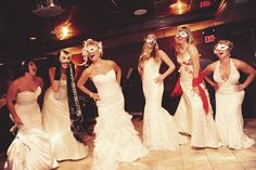 let's have a party and wear our wedding dresses again!