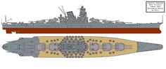 version of the Yamato Prototypes and their turret layouts. The True Japanese Nelson with a very similar layout and same guns. Yamato Class - Turret D Layout Variant Yamato Class Battleship, Armoured Personnel Carrier, Heavy Cruiser, Imperial Japanese Navy, Tank Destroyer, Battle Tank, Big Guns, Navy Ships, Aircraft Carrier