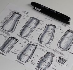 @abidurchowdhury Ellipses! If you have ten minutes try this quick fun exercise to practice ellipses. Drop a line for the minor axis, one ellipse on each end and join them twice with a thickness between the them - a really easy and rewarding way to sketch some glass bottles/beakers/vases!  #industrialdesign #id # #productdesign