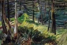Vancouver Art Gallery - Emily Carr - In the Woods of British Columbia Emily Carr, Canadian Painters, Canadian Artists, Matisse, Landscape Art, Landscape Paintings, Landscapes, Villa Romaine, Group Of Seven Paintings