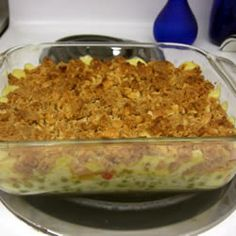Green Pea Casserole --I would imagine this is quite delicious. Such a weakness for casserole! Pea Recipes, Real Food Recipes, Dinner Recipes, Cooking Recipes, Yummy Food, Casserole Dishes, Casserole Recipes, English Pea Casserole Recipe, Broccoli Casserole