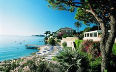 Hotel Royal Riviera, St Jean Cap Ferat, South of France - our private beach