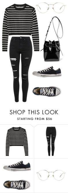 """Susi"" by saradiamondlovee ❤ liked on Polyvore featuring TIBI, Topshop, Converse, Linda Farrow and Mansur Gavriel"