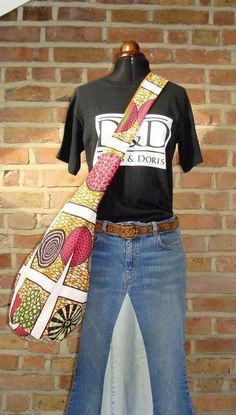 Large crossbody African print bags by dorisanddoris on Etsy, £25.00