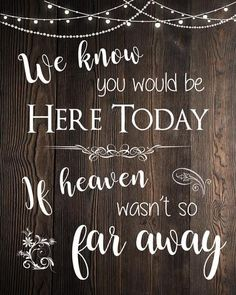 Heaven Wedding Sign for the Deceased. Loved Ones in Heaven rustic sign. PRINTABLE in loving memory. digital instant download.
