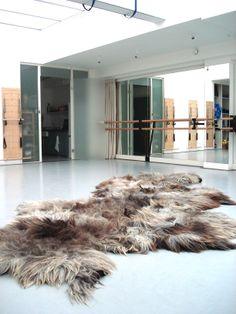http://www.LandscapesinWool.com handmade felted rug by Eugenie Ligthart