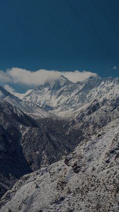 Winter Mountain Nature Snow Dark Alps #iPhone #6 #plus #wallpaper
