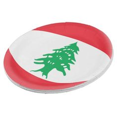 Lebanon Lebanese Flag Paper Plate - decor gifts diy home & living cyo giftidea Paper Napkins, Paper Plates, Lebanon Flag, Beirut Lebanon, National Flag, Party Tableware, Home Living, Biodegradable Products, Custom Design