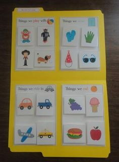 where does it go? sorting file folder game via mama's learning corner
