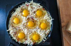 Gourmet Recipes, Cooking Recipes, Snack Recipes, Breakfast Time, Breakfast Recipes, Breakfast Menu, Nytimes Recipes, Tandoori, Baked Eggs