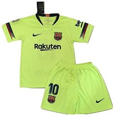 ef003e34ebd Amazon.com   AllStarA 2018-2019 Messi  10 New FC Barcelona Away Jersey and  Shorts for Kids Youth   Sports   Outdoors