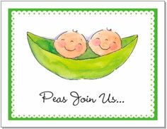 Two Peas in a Pod Baby Shower Invitations!