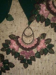 Alıntı Yarn Crafts, Diy And Crafts, Lace Jewelry, Needle Lace, Bead Crochet, Needlepoint, Knots, Needlework, Jewels
