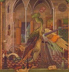Aquarell Entnommen aus dem Buch  'Die Drachenfedern'  mit freundlicher Genehmigung des Esslinger Verlags (c) Olga Dugina / Andrej Dugin   & Esslinger Verlag