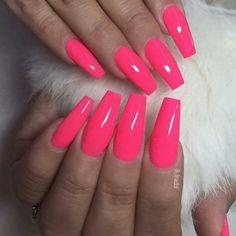 """neon rosa"" 601 für Susan Quinonez - New Ideas Neon Acrylic Nails, Neon Nail Polish, Neon Nails, Blue Nails, Pink Polish, Neon Rosa, Nagel Bling, Bright Pink Nails, Nagel Gel"