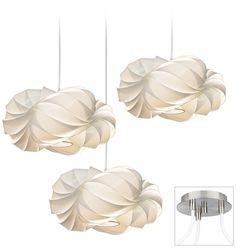 White Cloud Brushed Nickel Triple Swag Chandelier -  $609 Love this one! Dining room or in loft