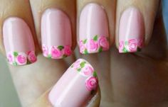 45 Easy Flower Nail Art Designs for Beginners Gorgeous Nails, Pretty Nails, Hand Kunst, Nailart, Nagel Blog, Rose Nails, Manicure E Pedicure, Flower Nail Art, Creative Nails