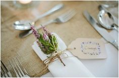 rustic wedding place settings