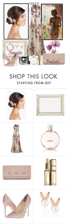 """""""Untitled #760"""" by misaflowers ❤ liked on Polyvore featuring Wedding Belles New York, Zuhair Murad, Chanel, Guerlain, Benjamin Adams, Aamaya by priyanka and Kenneth Jay Lane"""