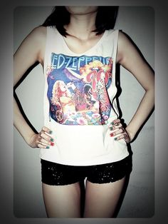 Led Zeppelin Shirt Hard Rock Tank Top TShirt by RockTheWayYouLive, $14.99