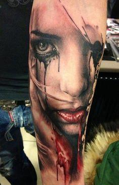 35 Zombie girl  tattoo