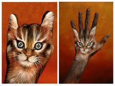 hand painted like life like cat