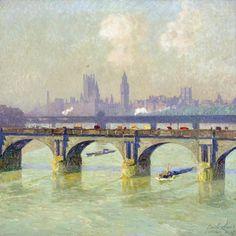 Waterloo Bridge, London by Emile Claus (Belgian, 1849-1924)