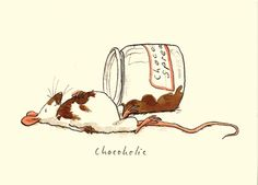 M31 CHOCOHOLIC - A Two Bad Mice card by Anita Jeram
