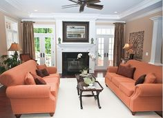 Family Room in a Traditional Style