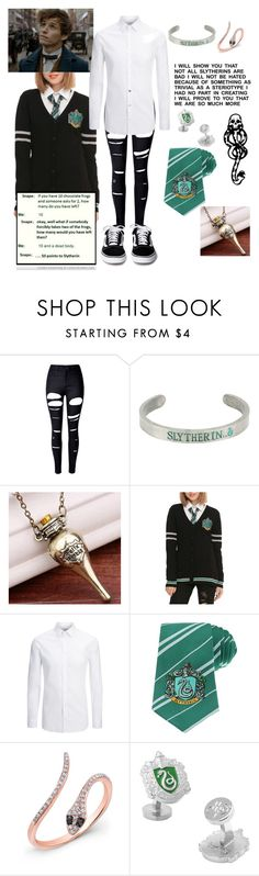 """""""Gonna go see Fantastic Beasts and Where to Find Them"""" by totalloser ❤ liked on Polyvore featuring WithChic, Warner Bros., Joseph, Anne Sisteron, Cufflinks, Inc. and mark."""