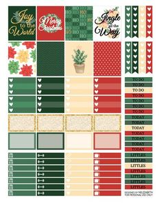 Christmas Time - Printable Planner Stickers | Freebies | NElizabeth