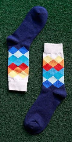 Original Male Tide Brand Men Cotton Socks Gradient Color Summer Style Long Wedding Sock Mens Knee High Business Socks Man Sox Underwear & Sleepwears