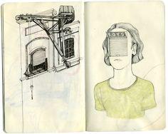 Anton Marrast sketchbook spread doodle