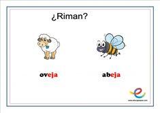 Fichas de lenguaje para primaria: ¿Qué rima con? Snoopy, Fictional Characters, Speech Pathology, Children Rhymes, User Experience, Note Cards, Lyrics, Fantasy Characters