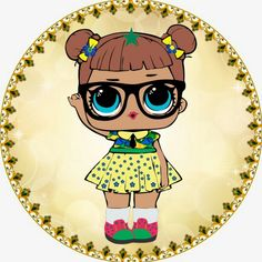 Bow Image, Royal Baby Showers, Cool Coloring Pages, Doll Party, Bottle Cap Images, Lol Dolls, 4th Birthday Parties, Silhouette Projects, Big Eyes