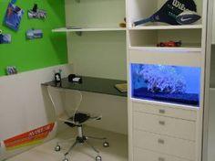 decoração e aquario