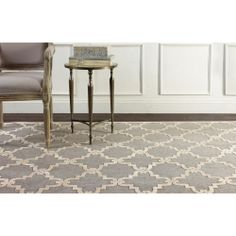 nuLOOM Modern Trellis Grey Faux Silk Rug (7'7 x 10') | Overstock.com Shopping - Great Deals on Nuloom 7x9 - 10x14 Rugs