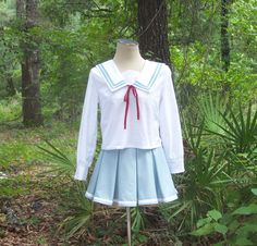 This is a 3-piece made-to-order custom Japanese anime school uniform (seifuku / sailor fuku).