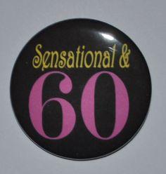 Sensational & 60 year old 2 1/4 inch birthday by KimmEllenDesigns