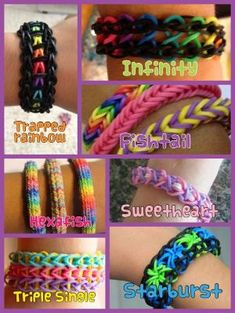 These are some fun and easy rainbow loom ideas. So simple, so cute! :) by SAburns