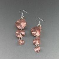 Copper Earrings / 3 Tiered #Copper #Lily Pad #Earrings. A Garden of Elegance   http://www.ilovecopperjewelry.com/copper-lily-pad-earrings-1.html  $75.00