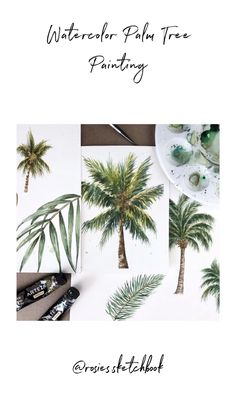 A simple quick tutorial of how I paint palm trees using watercolors. #tutorial #art #artist #painting #paintingtutorial #paintingtips #artwork #watercolour #watercolor #painting #paintingart #processart #artteachersofinstagram #arttutorials #arttechniques #palmtrees